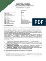 06 Sillabus Derecho Laboral 2016 II