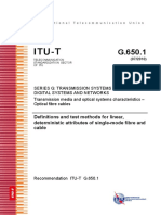 T-REC-G.650.1-Definitions and Test Methods for Linear, Deterministic Attributes of Single-mode Fibre and Cable
