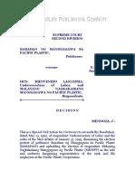 Samahan ng Manggagawa sa Pacific Plastic vs. Laguesma, G.R. No. 111245, January 31, 1997, 267 SCRA 303.pdf