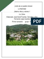 Desarrollo de Un Pueblo Mineral