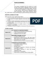 Business Administration Curriculum Macroeconomics Outline
