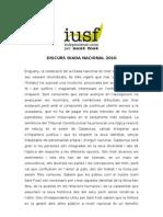 Discurs de la Diada Nacional de Catalunya (Independents Units per Sant Fost, 2010)