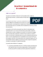 Administracion y Seguridad en Puertos