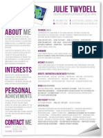 Julie Twydell's CV From Creativepool