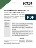 Discharge Planing Factors
