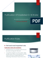Purification of Irradiated O-18 Water