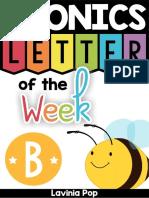 Alphabet Phonics Letter of the Week b