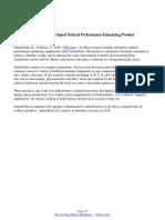 USA Based Company Developed Natural Performance-Enhancing Product AminoFitin