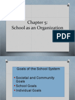 EDU 453 School as an Organisation Ch 5