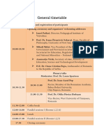 General Timetable Interkult 2017