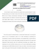 Smart smoke alarm can replace the fire sentry?Fou-Faith 201802