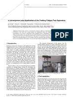 A Development and Application of the Fretting Fatigue Test Apparatus