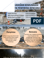 Pengaplikasian Komunikasi Terapeutik Penyintas Bencana