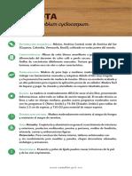 Características de la madera de Parota
