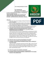 AMISOM Conducts Training Workshop for Somali Women Legislators