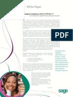 Sage X3 ERP 21 CFR Part11 Compliance
