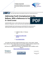 "PREVIEW Dr Daniel Linotte (2018) ""Addressing Youth Unemployment in the Balkans, With a Reference to Young Carers"""