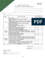 Fisa de Evaluare Inspectie La Clasa 1