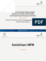Sosialisasi Dan Pelatihan Petugas Pendaftar Sosialisasi MPM