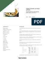 Salada de Fusilli Com Frango Grelhado