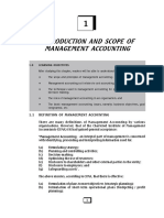 Introduction and Scope of Management Accounting