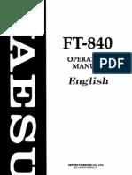 Yaesu FT-840 Operating Manual