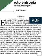 Star Trek 01 - Vonda Mcintyre - El Efecto Entropia