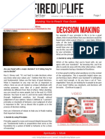 FIRED UP LIFE Newsletter Vol 1 No 1 Decision_Making