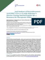 Computational Analyses of Docosahexaenoic Acid With Alzheimer's
