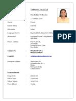 Rohini G Resume (CCU Apollo)