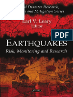 [Earl v. Leary (Editor)] Earthquakes Risk, Monitor