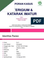 Lapsus Pterigium&Katarak Imatur