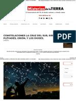 Constelaciones La Cruz Del Sur, Sirio, Pléyades, Orión, y Los Dioses. - Los Misterios de La Tierra