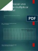 Como Hacer Una Tabla de Multiplicar en Excel