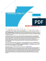 CBSE NCERT Solutions for Class 12 Chemistry- Band Theory of Solids