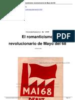 El Romanticismo Revolucionario de Mayo Del 68. Michel Löwy