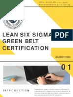 Lean Six Sigma Green belt Certification - ISEL