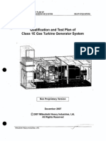 Qualification and Test Plan of Class 1E Gas Turbine Generator System ML073450622