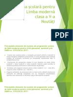 Programa Școlară Pentru Limba Modernă
