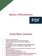 Basics of Micro Finance