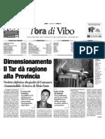 Calabria Ora 11 Settembre 2010 Policaro Dimensionamento