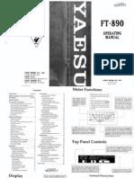 Yaesu FT-890 Operating Manual