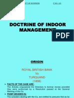 Doctrine of Indoor Managemnt