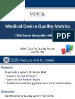 Quality Metrics Presentation.june 28 2016 Meeting.final