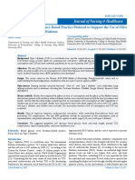 Development of an Evidence Based Practice Protocol to Support the Use of Olive Oil for Managing Type 2 Diabetes Jnh 029