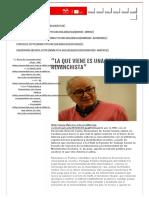 """DeSouzaSantos Entrevista Alfilo _ """"La Que Viene Es Una Derecha Revanchista"""""""
