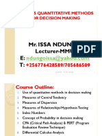 QUANTITATIVE TECHNIQUES FOR MBA AND CPA  BY ISSA NDUNGO