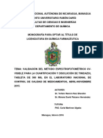 VALIDACION TINIDAZOL