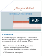 Lec 04 05 Simplex Mathmatical Method