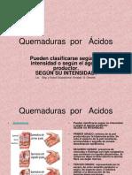Quemaduras Por Acidos